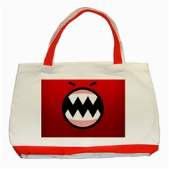 Funny Angry Classic Tote Bag (Red)