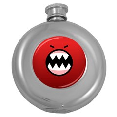 Funny Angry Round Hip Flask (5 oz)