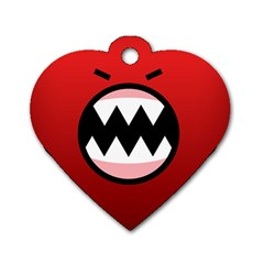 Funny Angry Dog Tag Heart (two Sides)