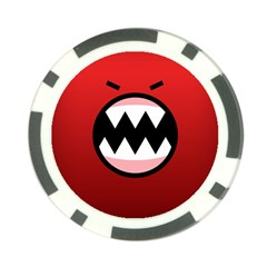 Funny Angry Poker Chip Card Guard