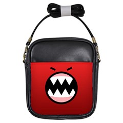 Funny Angry Girls Sling Bags