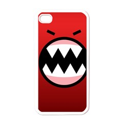 Funny Angry Apple Iphone 4 Case (white)