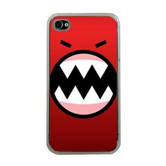 Funny Angry Apple iPhone 4 Case (Clear)