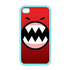 Funny Angry Apple Iphone 4 Case (color)