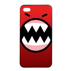 Funny Angry Apple Iphone 4/4s Seamless Case (black)
