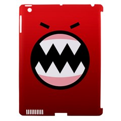 Funny Angry Apple iPad 3/4 Hardshell Case (Compatible with Smart Cover)