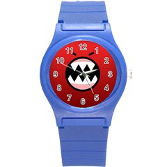 Funny Angry Round Plastic Sport Watch (S)