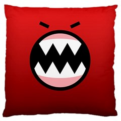Funny Angry Large Cushion Case (One Side)