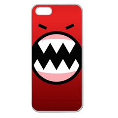 Funny Angry Apple Seamless iPhone 5 Case (Clear)