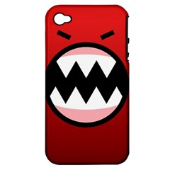 Funny Angry Apple Iphone 4/4s Hardshell Case (pc+silicone)