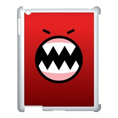Funny Angry Apple Ipad 3/4 Case (white)