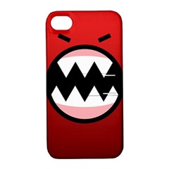 Funny Angry Apple Iphone 4/4s Hardshell Case With Stand