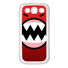 Funny Angry Samsung Galaxy S3 Back Case (white)