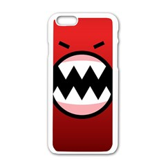 Funny Angry Apple iPhone 6/6S White Enamel Case