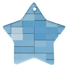 Blue Squares Iphone 5 Wallpaper Ornament (Star)