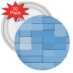 Blue Squares Iphone 5 Wallpaper 3  Buttons (10 Pack)