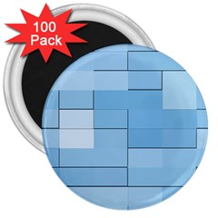Blue Squares Iphone 5 Wallpaper 3  Magnets (100 pack)