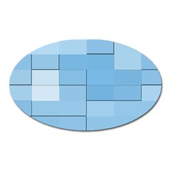 Blue Squares Iphone 5 Wallpaper Oval Magnet