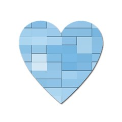 Blue Squares Iphone 5 Wallpaper Heart Magnet