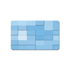 Blue Squares Iphone 5 Wallpaper Magnet (Name Card)