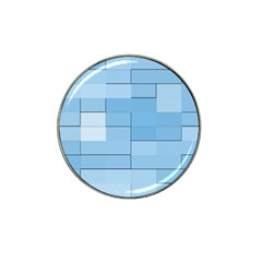 Blue Squares Iphone 5 Wallpaper Hat Clip Ball Marker (10 pack)