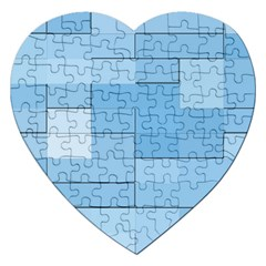 Blue Squares Iphone 5 Wallpaper Jigsaw Puzzle (heart)
