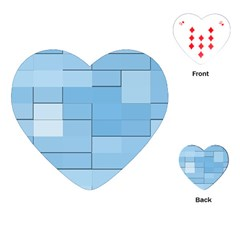 Blue Squares Iphone 5 Wallpaper Playing Cards (heart)