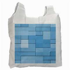 Blue Squares Iphone 5 Wallpaper Recycle Bag (one Side)