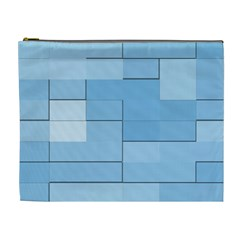 Blue Squares Iphone 5 Wallpaper Cosmetic Bag (xl)