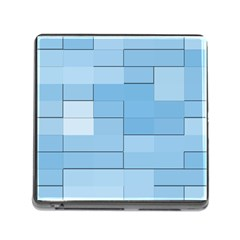 Blue Squares Iphone 5 Wallpaper Memory Card Reader (square)