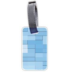 Blue Squares Iphone 5 Wallpaper Luggage Tags (two Sides)