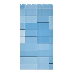 Blue Squares Iphone 5 Wallpaper Shower Curtain 36  X 72  (stall)