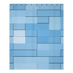 Blue Squares Iphone 5 Wallpaper Shower Curtain 60  X 72  (medium)