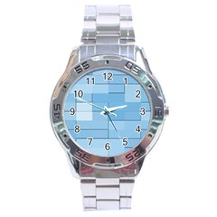 Blue Squares Iphone 5 Wallpaper Stainless Steel Analogue Watch