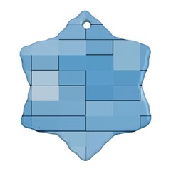 Blue Squares Iphone 5 Wallpaper Ornament (Snowflake)
