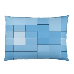 Blue Squares Iphone 5 Wallpaper Pillow Case (Two Sides)