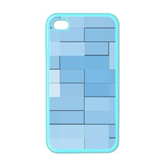 Blue Squares Iphone 5 Wallpaper Apple Iphone 4 Case (color)
