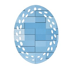 Blue Squares Iphone 5 Wallpaper Oval Filigree Ornament (two Sides)