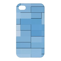 Blue Squares Iphone 5 Wallpaper Apple Iphone 4/4s Hardshell Case