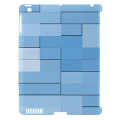 Blue Squares Iphone 5 Wallpaper Apple Ipad 3/4 Hardshell Case (compatible With Smart Cover)