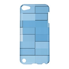 Blue Squares Iphone 5 Wallpaper Apple iPod Touch 5 Hardshell Case