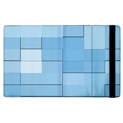 Blue Squares Iphone 5 Wallpaper Apple Ipad 2 Flip Case