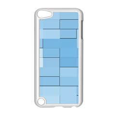 Blue Squares Iphone 5 Wallpaper Apple iPod Touch 5 Case (White)