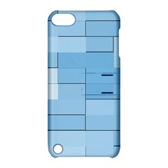 Blue Squares Iphone 5 Wallpaper Apple iPod Touch 5 Hardshell Case with Stand