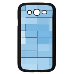 Blue Squares Iphone 5 Wallpaper Samsung Galaxy Grand Duos I9082 Case (black)