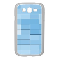 Blue Squares Iphone 5 Wallpaper Samsung Galaxy Grand DUOS I9082 Case (White)