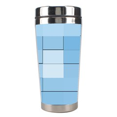 Blue Squares Iphone 5 Wallpaper Stainless Steel Travel Tumblers