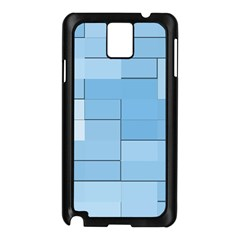 Blue Squares Iphone 5 Wallpaper Samsung Galaxy Note 3 N9005 Case (black)