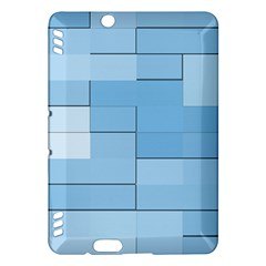 Blue Squares Iphone 5 Wallpaper Kindle Fire Hdx Hardshell Case