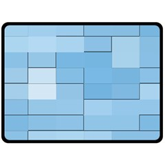 Blue Squares Iphone 5 Wallpaper Double Sided Fleece Blanket (Large)